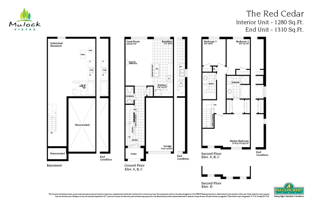 falconcrest homes mulock vistas newmarket floor plans